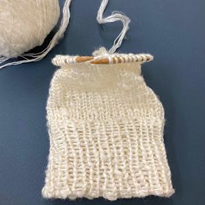 手編みの写真