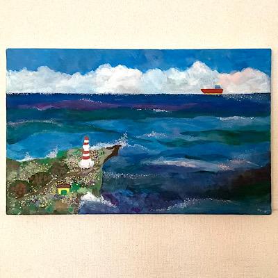 海の絵の写真