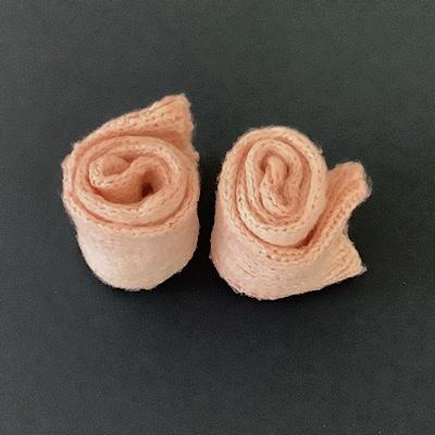 手編みシルク靴下あかね染
