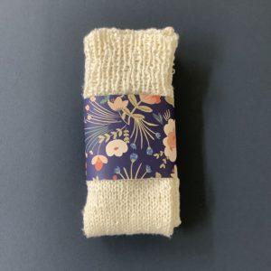 手編み靴下の写真