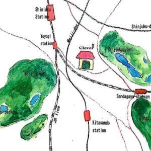地図のイラストの写真